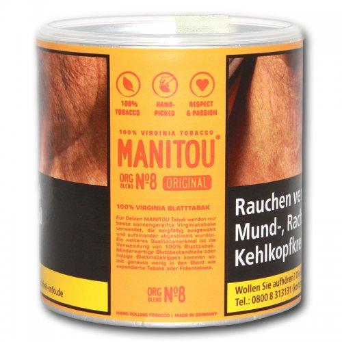 Manitou Tabak ohne Zusatzstoffe ORG Gold Blend 80g Dose Feinschnitt