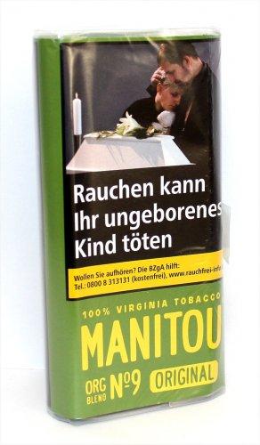 Manitou Tabak ohne Zusatzstoffe ORG Green 30g Päckchen Feinschnitt