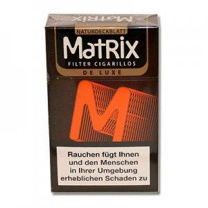 Matrix Filterzigarillos De Luxe mit Naturdeckblatt 17er