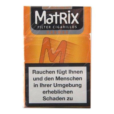 Matrix Filterzigarillos Orange mit Naturdeckblatt 84mm 17er