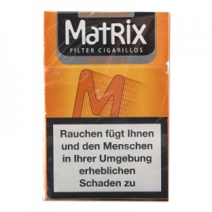 Matrix Filterzigarillos Orange mit Naturdeckblatt 84mm 17er