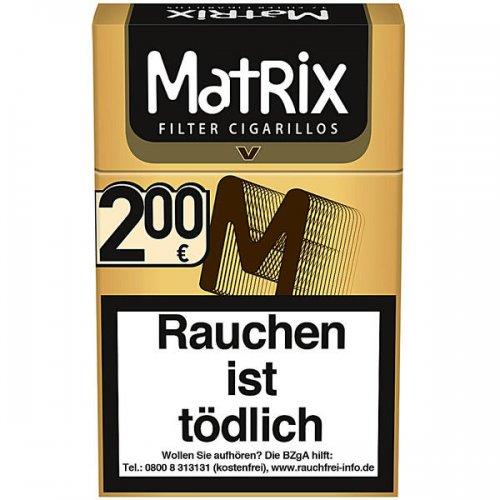 Matrix Filterzigarillos Vanille mit Naturdeckblatt 17er