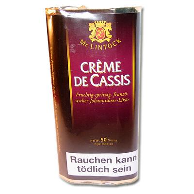 Mc Lintock Pfeifentabak Creme de Cassis 50g Päckchen