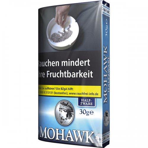 Mohawk Tabak Blue Halfzware 30g Päckchen Feinschnitt