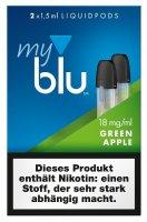 myblu Pods Green Apple 18 mg 2er Pack