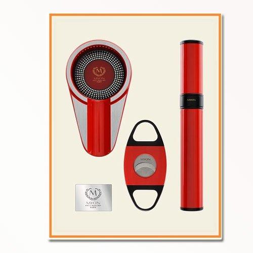 Myon Set - Aschenbecher/Cutter/ Tube Racing Edition Rot