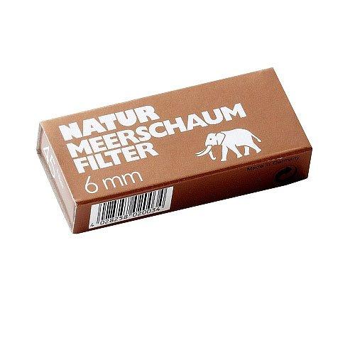 Natur Meerschaumfilter White Elephant 6mm 45 Stück