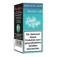 Nikoliquids Shake n Vape Grundbase 50/50 Türkis 80ml A3 + 2AN für 3mg