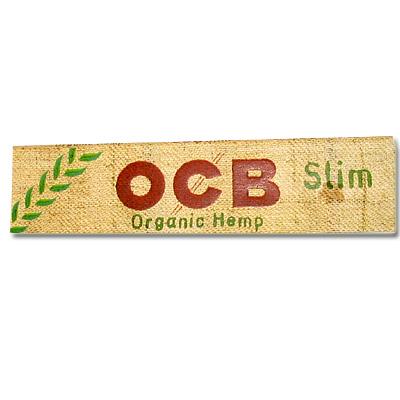 OCB Zigarettenpapier Organic Slim Hanf Zigarettenpapier 1x32 Blättchen