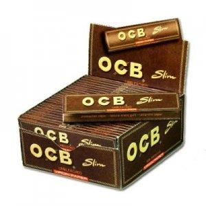OCB Zigarettenpapier Unbleached Slim Virgin 1x32 Blättchen