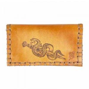 Original MR Drehertasche Leder braun Snake