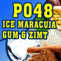 P048 - 325ml Shisha Molasse - Ice, Maracuja, Gum und Zimt
