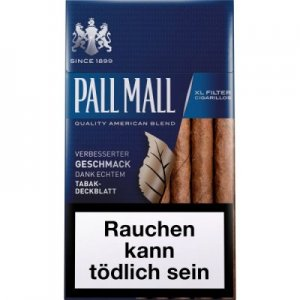 Pall Mall Filterzigarillos XL Blau mit Naturdeckblatt