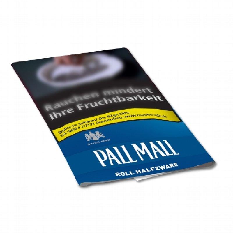 Pall Mall Roll Halfzware Blau 30g Päckchen Feinschnitt