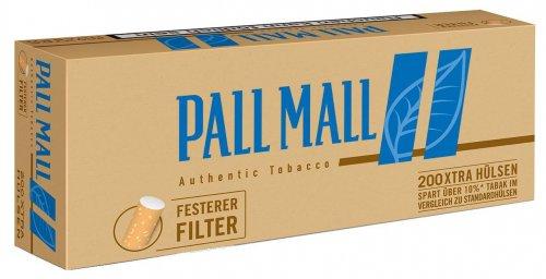 Pall Mall Zigarettenhülsen Authentic Blau 200 Stück