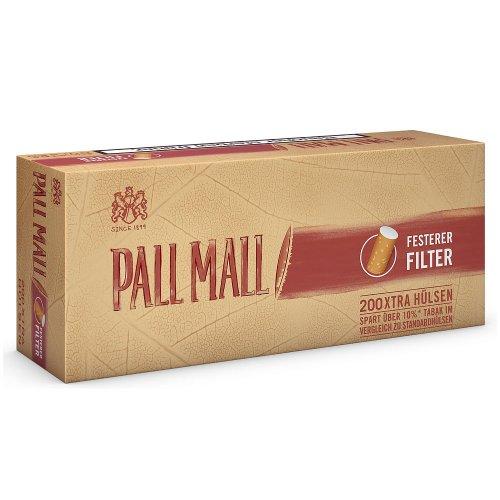 Pall Mall Zigarettenhülsen Authentic Rot 200 Stück