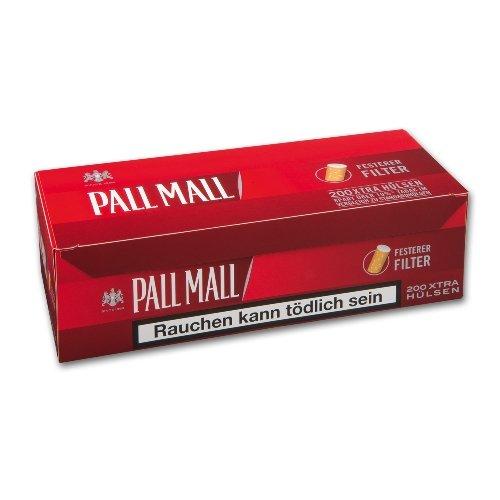 Pall Mall Zigarettenhülsen Xtra Rot 200 Stück