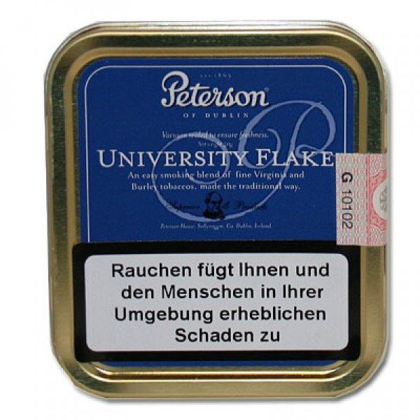 Peterson Pfeifentabak University Flake 50g Dose