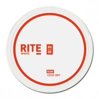 RITE Cold Dry White Slim Chewing Bags Kautabak