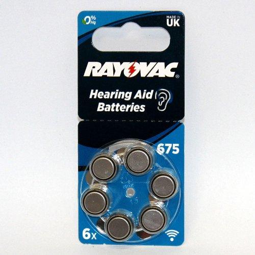 Rayovac Hörgerätebatterie R675AE