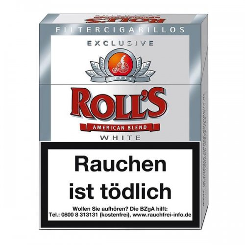 Rolls Filter Cigarillos White Exclusive Naturdeckblatt