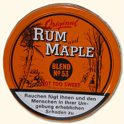 Rum and Maple Pfeifentabak R and M - 100g Dose