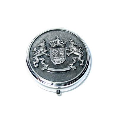 Schnupftabak-Dose Zinn Bayern-Wappen