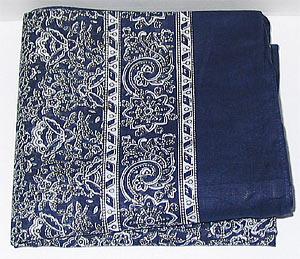 Schnupftuch 111 Türk.Blau