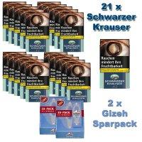 Schwarzer Krauser No 1 (21x30g) Pouch Tabak Sparpaket