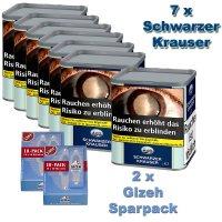 Schwarzer Krauser No1 (7x90g) Dose Tabak Sparpaket