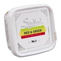 Sindbad Shisha Tabak Red & Green No 3 Doppel-Apfel 200g Dose