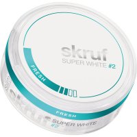 Skruf Super White #2 Ice Chewing Bags