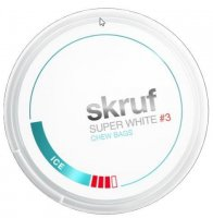 Skruf Super White #3 Ice Slim Chewing Bags