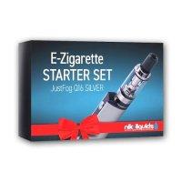 Starter Set JUSTFOG E-Zigarette Q16 Silber 900 mAh 1.8 Ohm