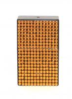 Taschenaschenbecher Strasssteine Orange