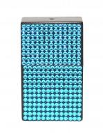 Taschenaschenbecher Strasssteine blau