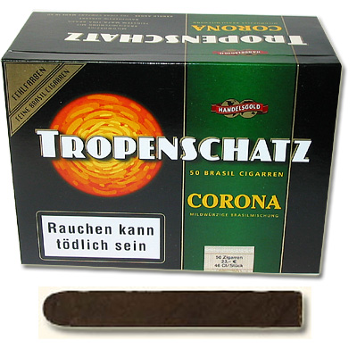Tropenschatz 824F Brasil Zigarren Blockkiste 50er