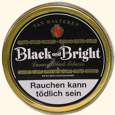 Van Halteren Pfeifentabak Black and Bright 100g Dose