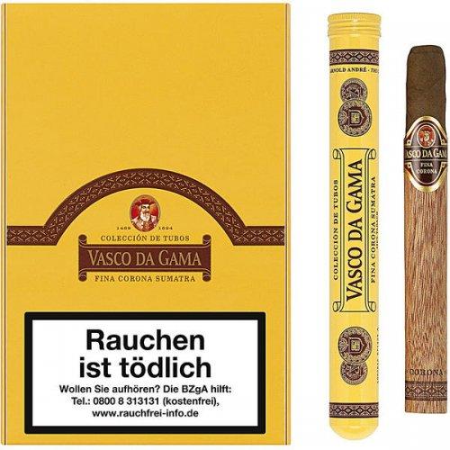 Vasco Da Gama Fine Corona Sumatra Tubos 10er Cigarren