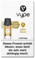 Vype ePOD Caps Golden Tobacco 18mg