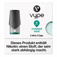 Vype ePen 3 Caps vPro Crushed Mint 6mg Nikotin
