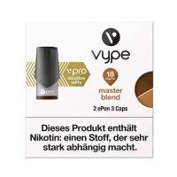 Vype ePen 3 Caps vPro master blend 18mg Nikotin