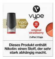 Vype ePen 3 Caps vPro original strawberry 18mg Nikotin