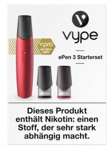 Vype ePen 3 Starterset rot E-Zigarette
