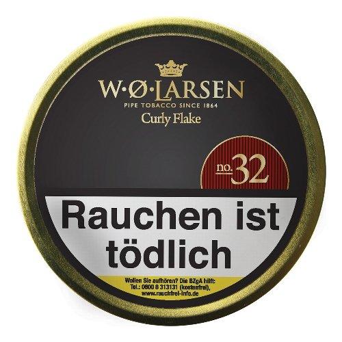 W. O. Larsen Curly Flake No 32, Pfeifentabak 50g Dose