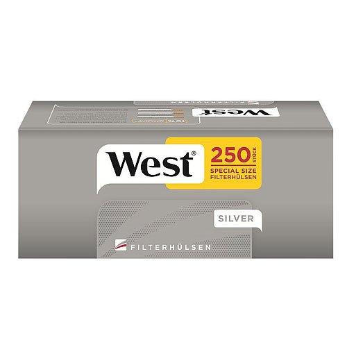 West Zigarettenhülsen  Silver Special 250 Stück