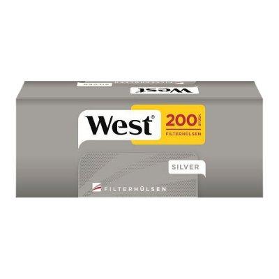 West Zigarettenhülsen Silver 200 Stück