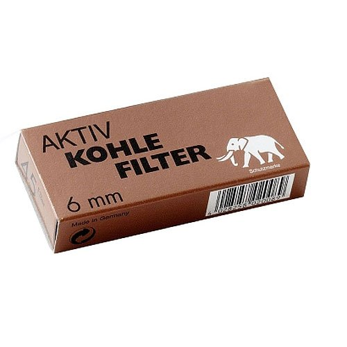 White Elephant Aktivkohlefilter Pfeifenfilter 6mm 45 Stück