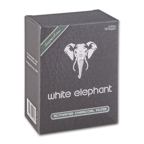 White Elephant Pfeifenfilter Aktivkohlefilter 150 Stück