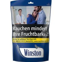 Winston Blau 135g Zip-Beutel Volumentabak
